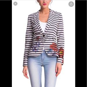 Desigual striped blazer